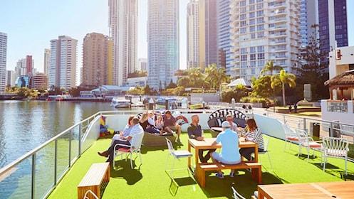 Top deck of Cruise boat in Australia