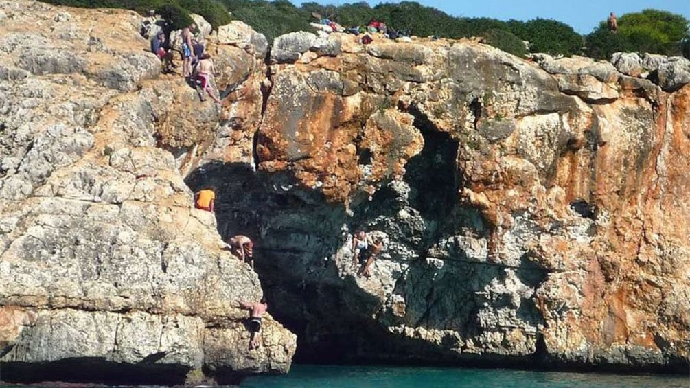 Show item 2 of 10. Outside view of the sea caves in Mallorca Island