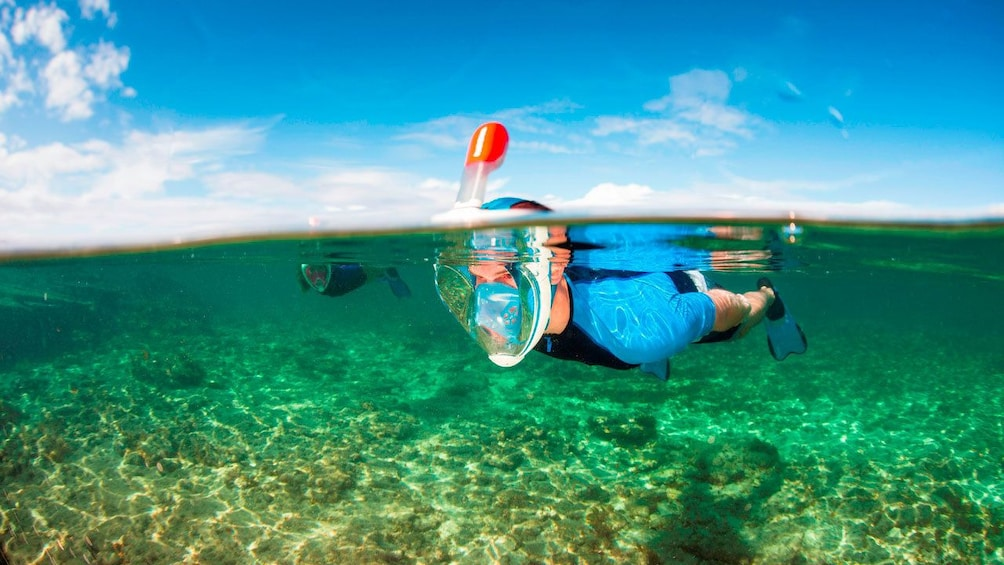 Person Snorkeling in Palma Bay