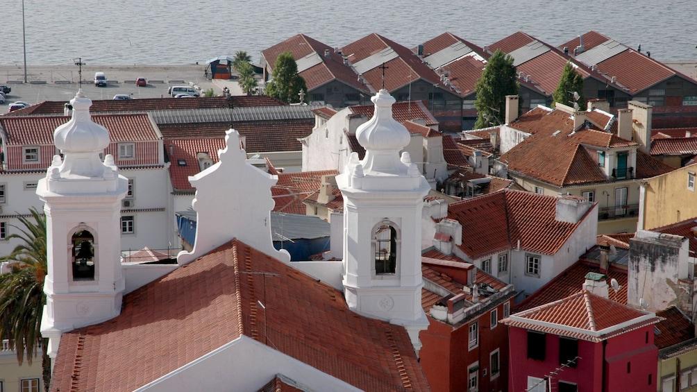 Åpne bilde 5 av 6. building bell towers looking out to sea in Portugal