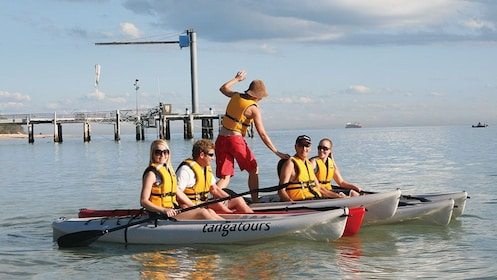 People going kayaking on the Tangalooma Dolphin Adventure Day Trip