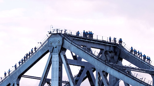 People on the top of bridge in Brisbane