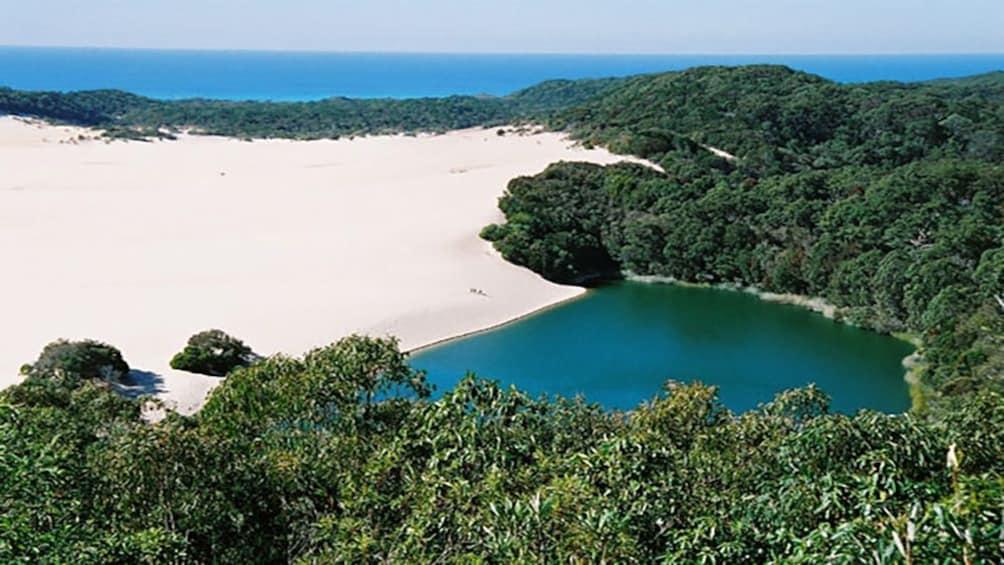 private cove and sandy beach in Brisbane