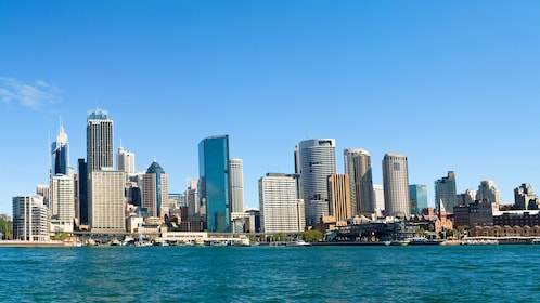 Cityscape view of Sydney from the Sydney Harbor in Australia