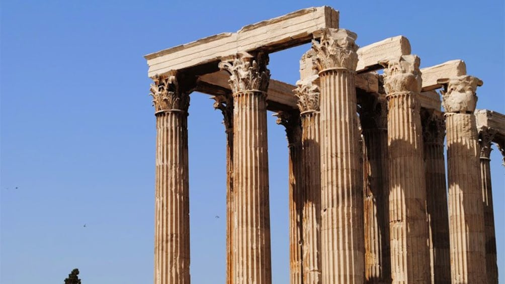 Ruins of a columned temple in Athens