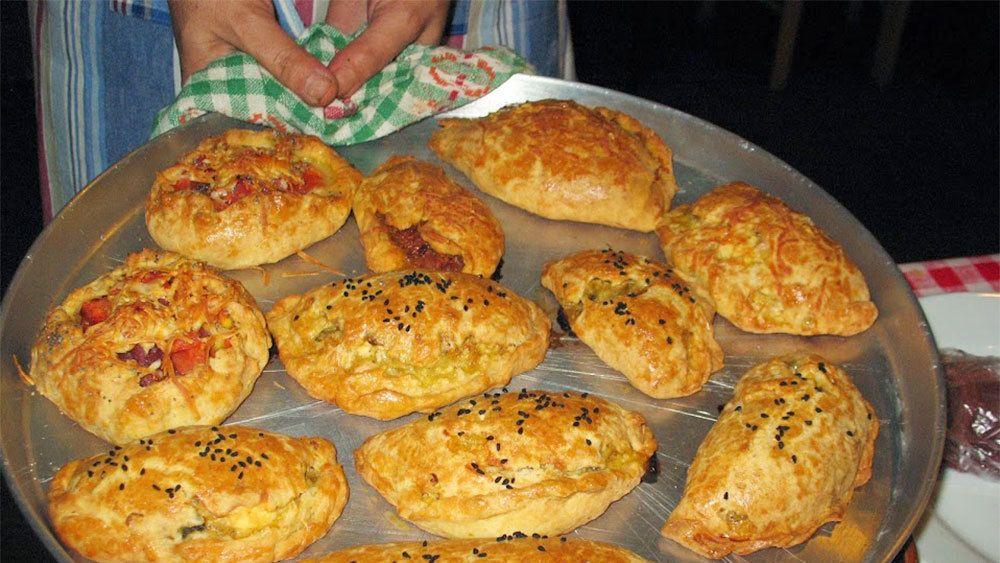 Freshly baked Greek pastries