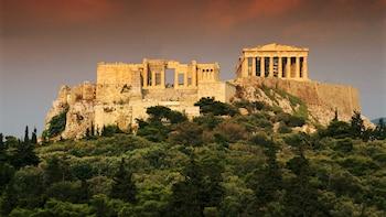 Først i køen-adgang til fottur for liten gruppe i Akropolis