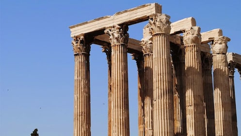 Columned ruins of a temple in Athens