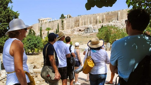 Tour group at the Acropolis in Athens