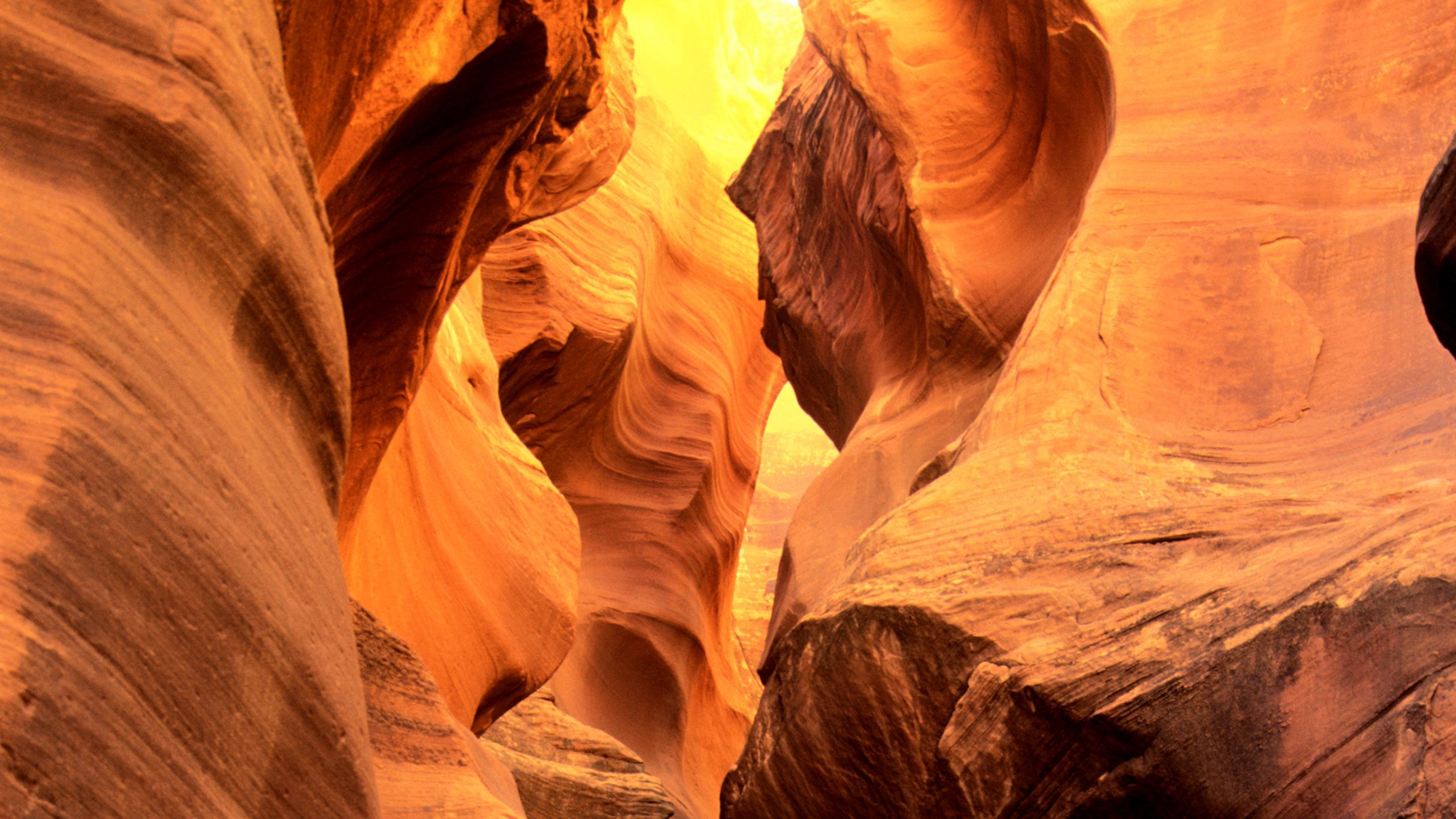 Antelope Canyon was formed by eons of erosion of Navajo Sandstone