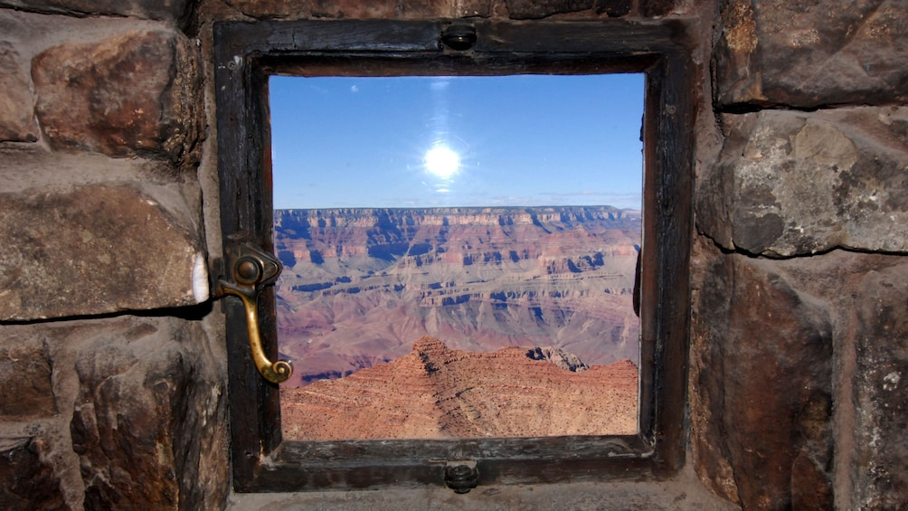 Show item 4 of 5. Window view of the Grand Canyon South Rim