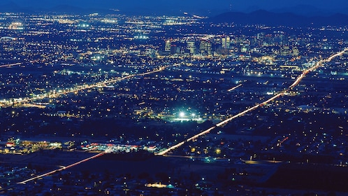 Aerial view of Phoenix at night
