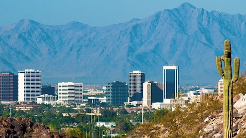 City of Phoenix with mountains in the background