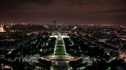 View of Paris at night from the Eiffel Tower