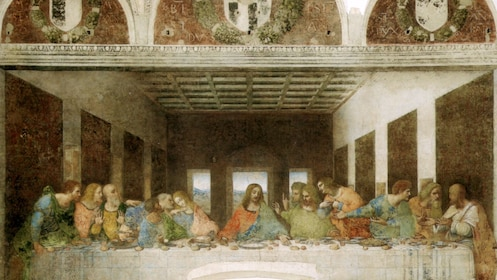 Religious painting in Milan