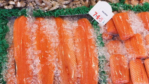 Fresh salmon at the Eastern Market in Washington DC