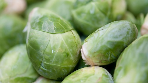 Brussel sprouts being sold at the Eastern Market in Washington DC