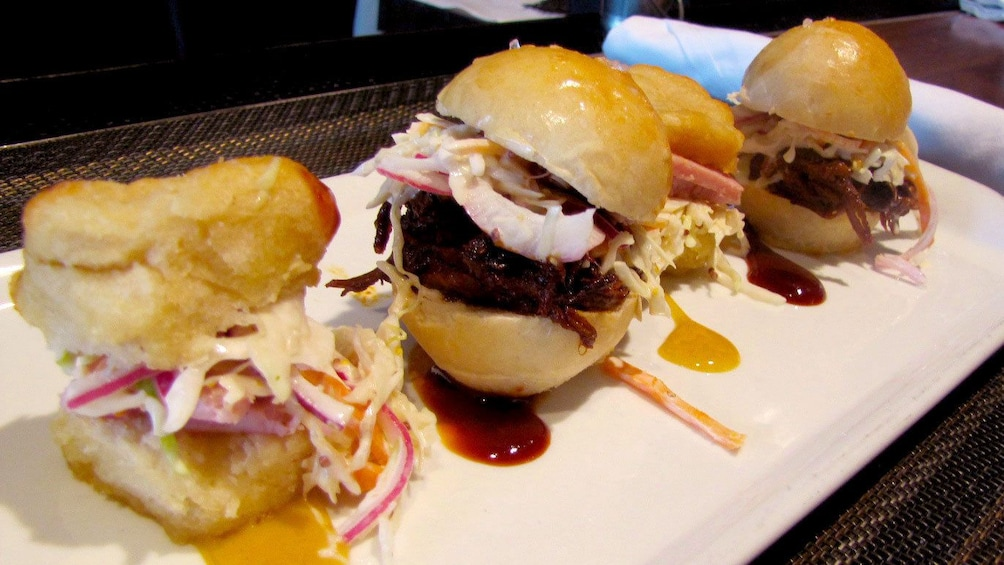 Show item 1 of 5. Slider sandwiches at a restaurant in Washington DC