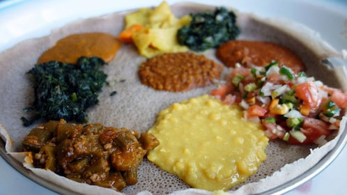Serving Ethiopian food in Washington DC