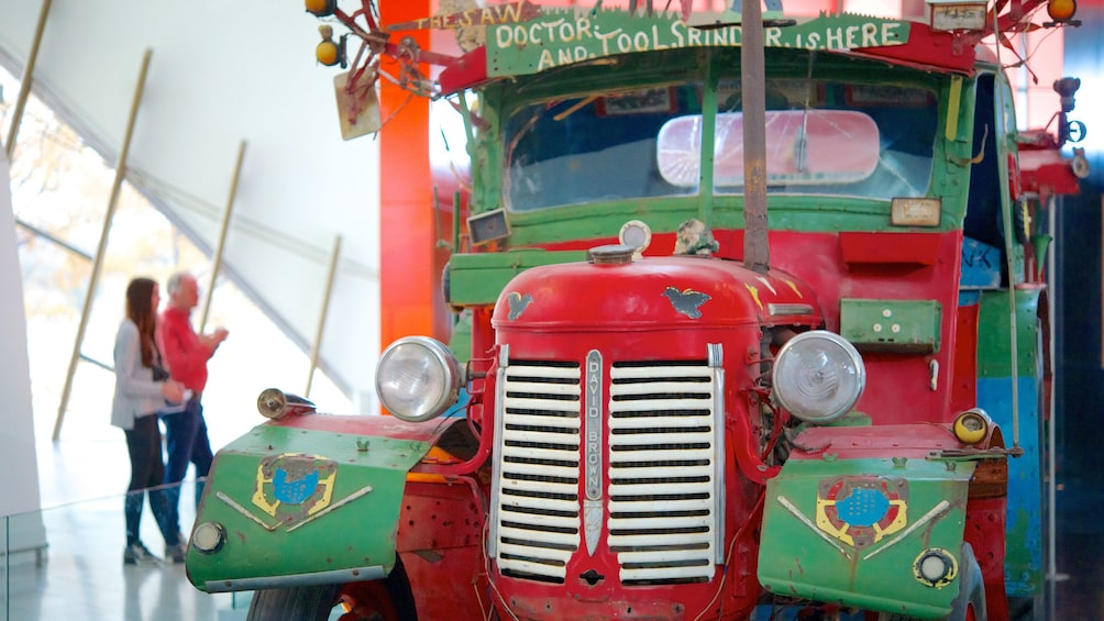Show item 3 of 5. brightly painted truck at National Museum of Australia in Canberra
