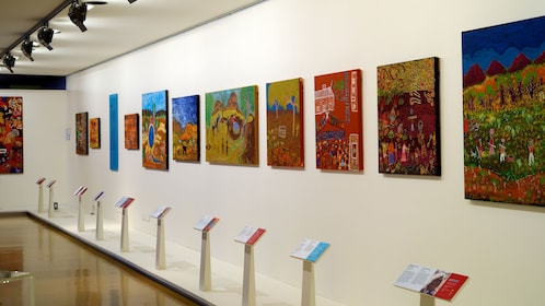 Wall art at National Museum of Australia in Canberra