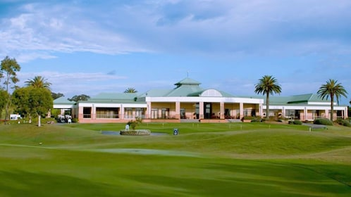 Golf clubhouse and course in Hunter Valley, Australia.