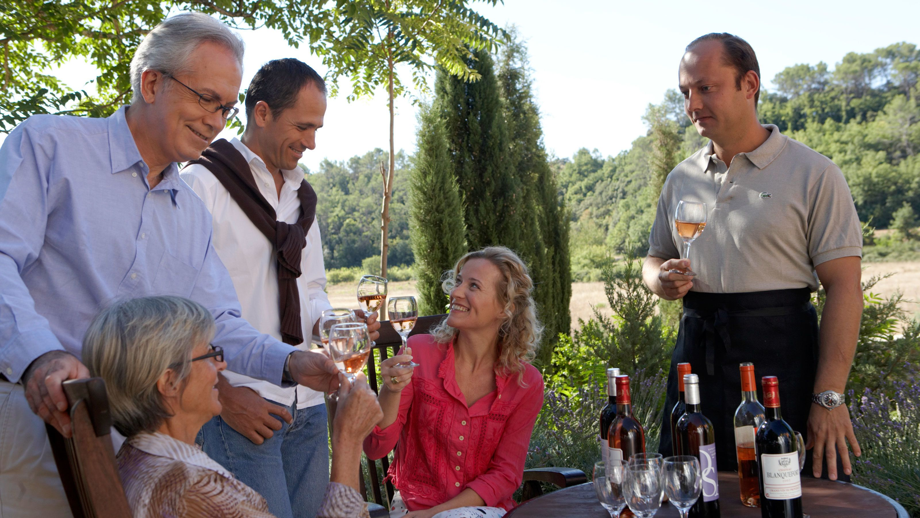 People wine tasting on the Hunter Valley Wine and Cheese Tour in Australia
