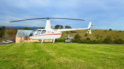 Helicopter landed in Sydney.
