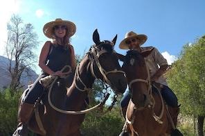 Horseback riding along the preandean range