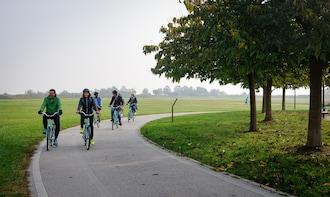The mainland of Venice Bike Tour