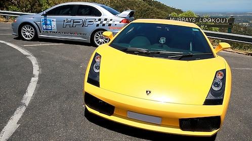 Headlights of Lamborghini in Melbourne.