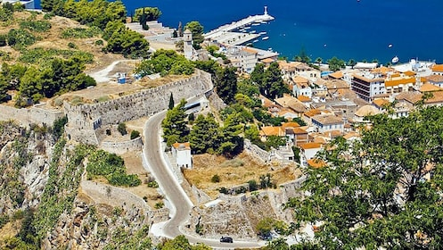 Aerial viewo of the town of Nafplio in Greece