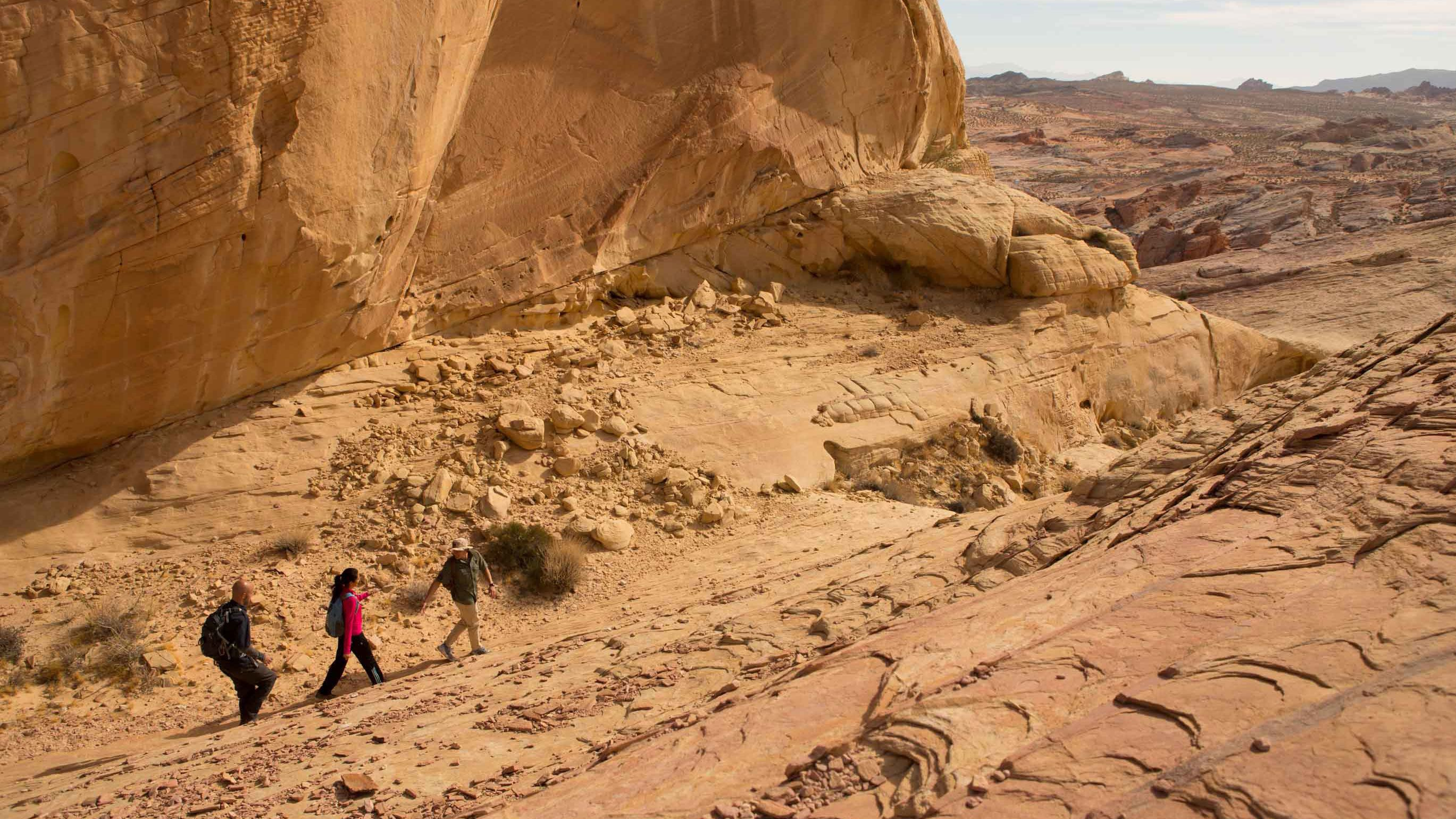 Hike through the Valley of Fire with a professional tour guide