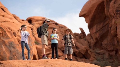 Kids are welcome to join friendly hikes in the Valley of FIre