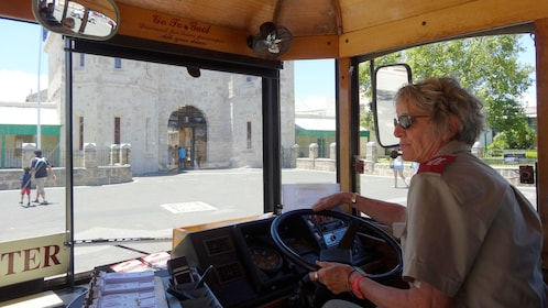 Hop on and off bus driver in Perth.