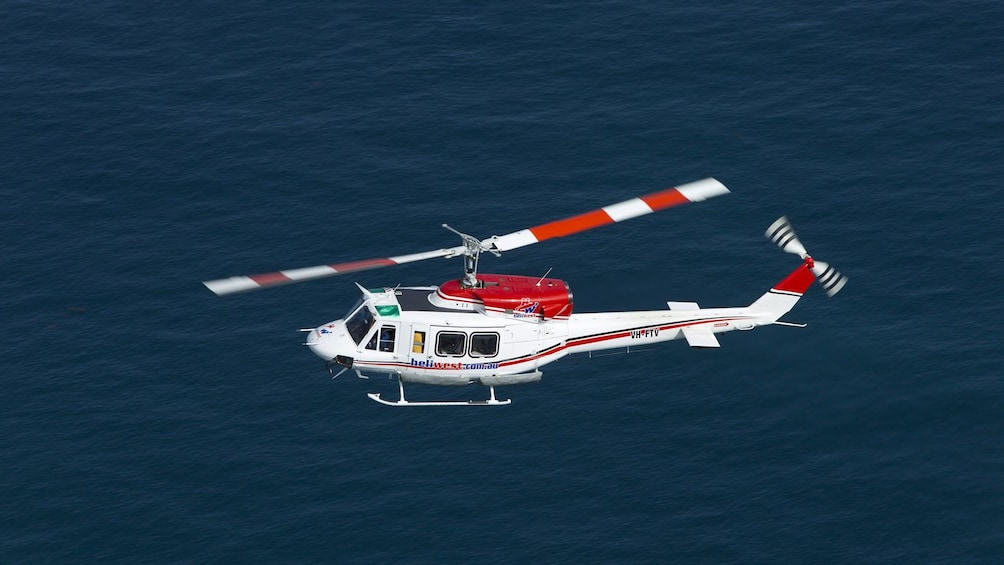 Show item 4 of 4. Helicopter used in Fremantle Flyer Scenic Flight in Perth