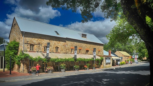 Outside view of brick building at winery in Adelaide