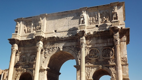 close up an arch in Rome