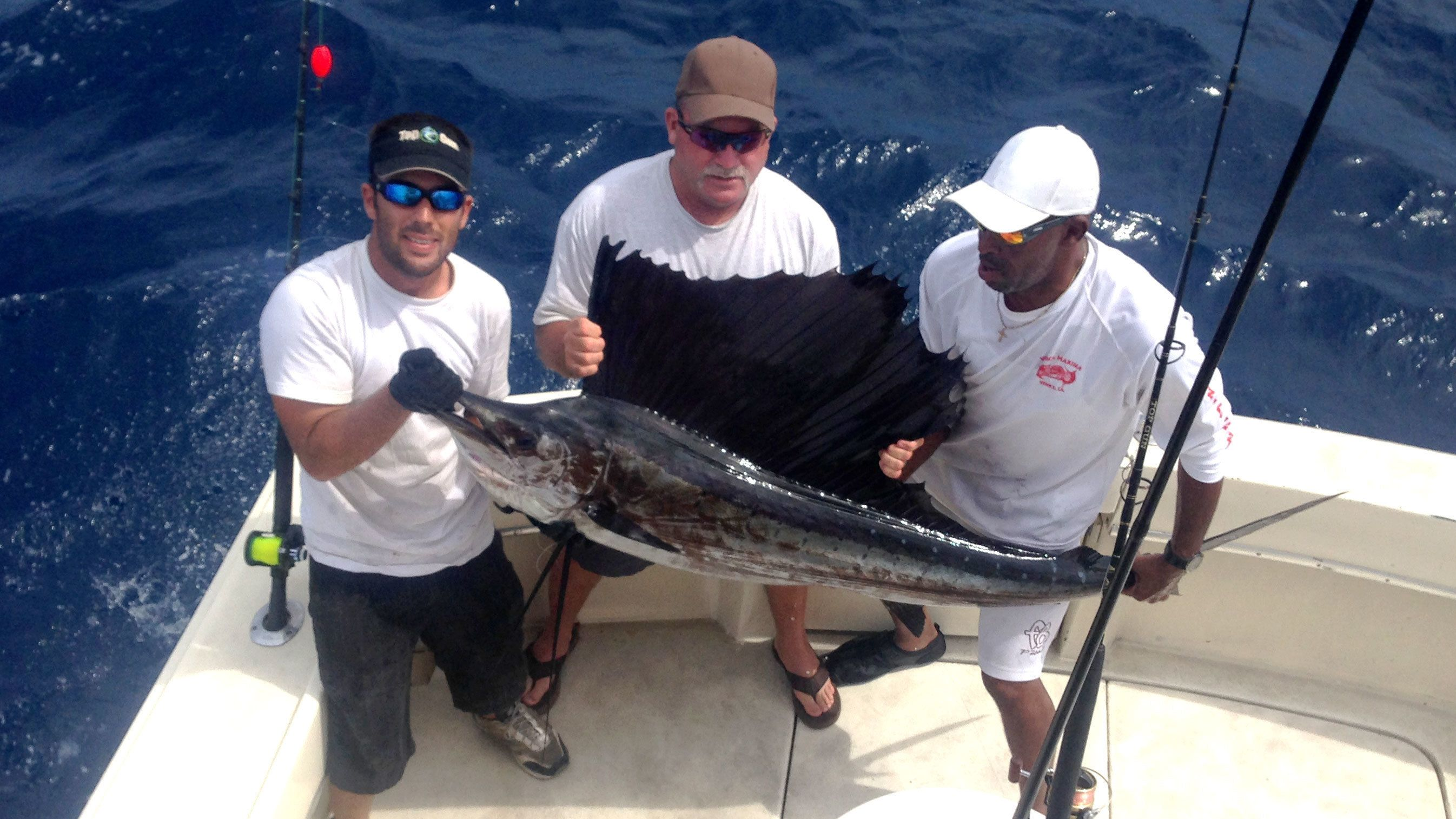 Big marlin caught on the Top Gun fishing boat in Key West