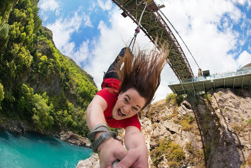 Show item 1 of 8. Kawarau Bridge Bungy - World's First Commercial Jump Site