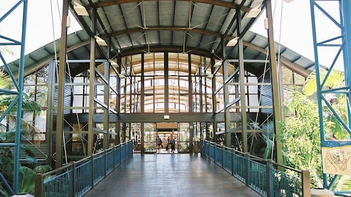 entrance to resort in Fraser Coast