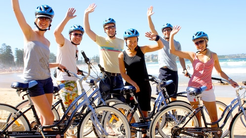 Group of Bicyclist in Sydney.