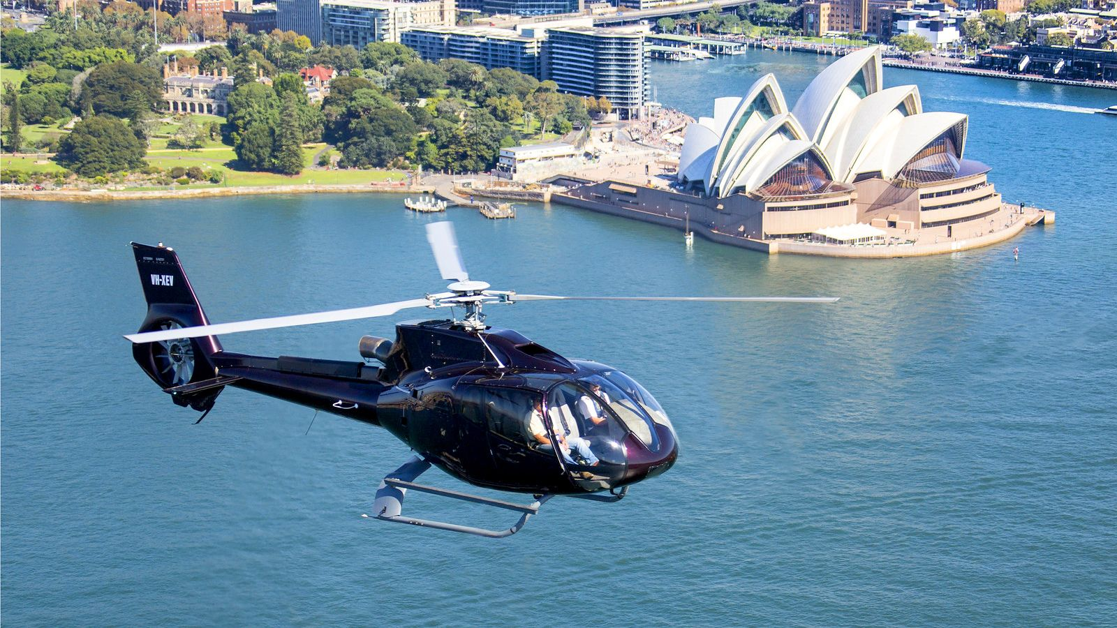 Helicopter on the Sydney Harbour Scenic Flight in Australia.