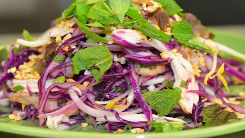 Vietnamese salad at food tour in Melbourne