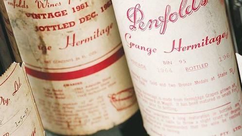 wine bottle labels in Barossa Valley