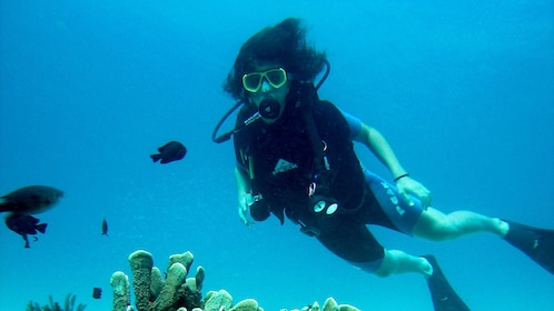 Tourist on a diving adventure in Alcudia