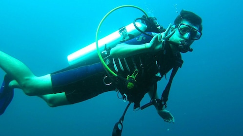 Man Diving in Alcudia