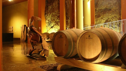 Casks of wine from a vineyard in Tenerife