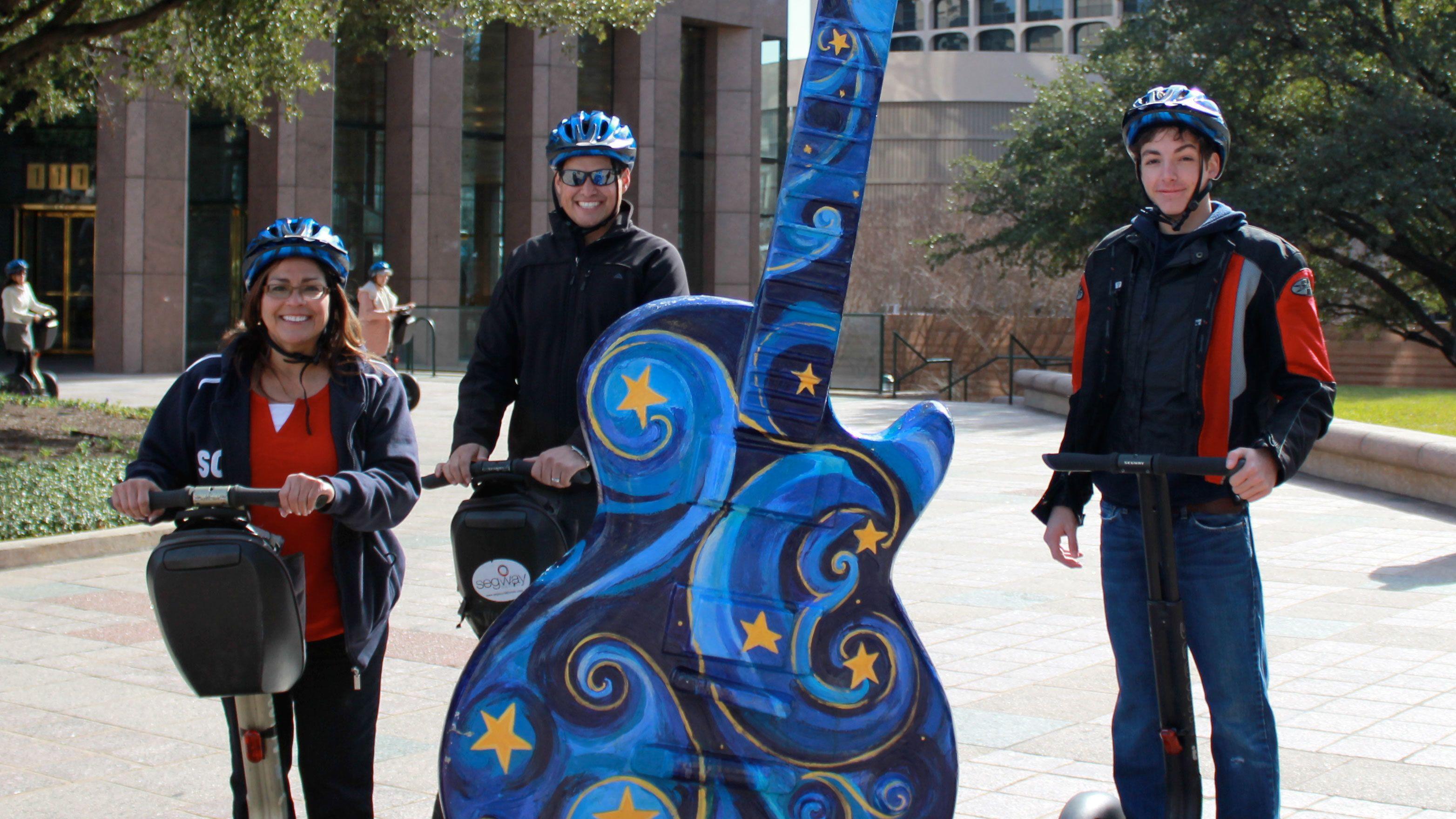 Tour group on Segway Tour in Austin Texas