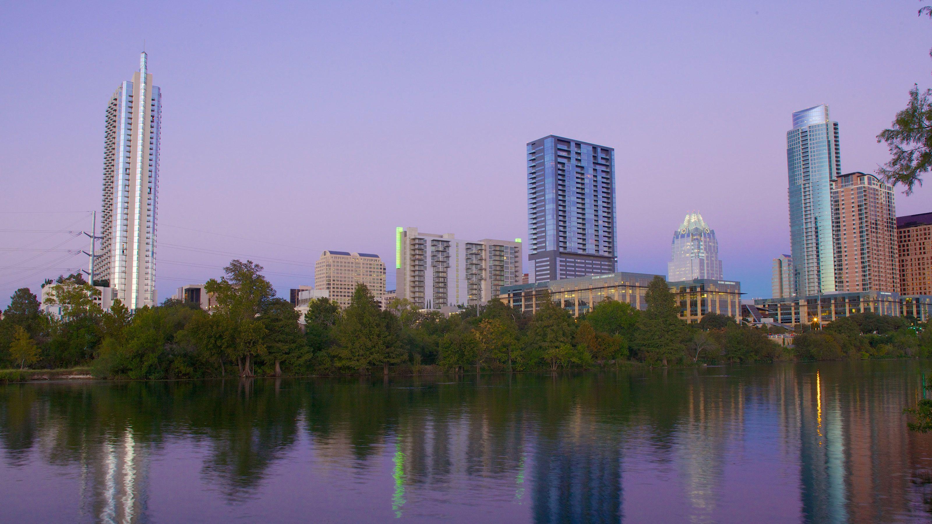 City view near Lady Bird Lake on Segway Tour in Austin Texas
